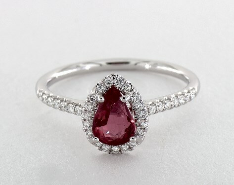 pear-shaped red ruby ring at James Allen